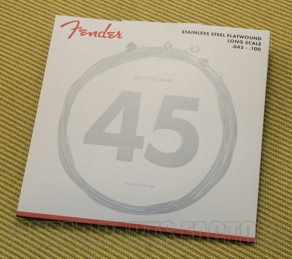 Long Scale 7250M 45-105 Bass Strings Fender Nickelplated Steel Roundwound