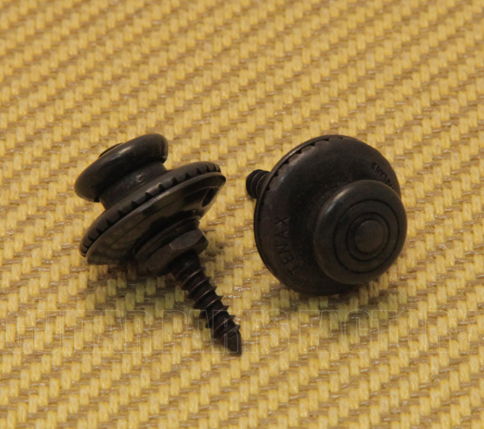 Black Oversized Strap Buttons for Guitar//Bass EOSB-B 2