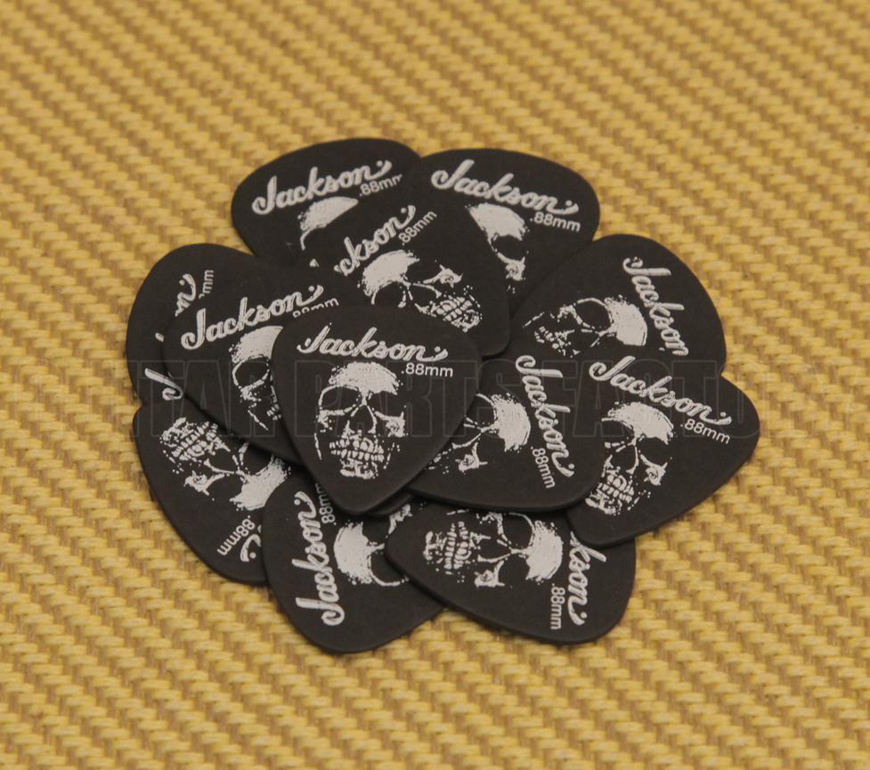 12 Picks Thin Guitar Picks Genuine Jackson 451 Skull Delrin .50mm Dozen