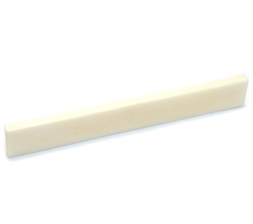 Premium Replacement Bone Saddle Slab 80mm x 3mm for Acoustic Guitars