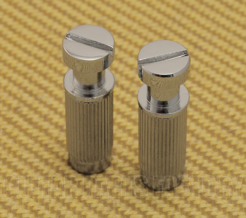 2 Gotoh Nickel M8 Metric Stop Tailpiece Studs w//Body Inserts GM-STS-N