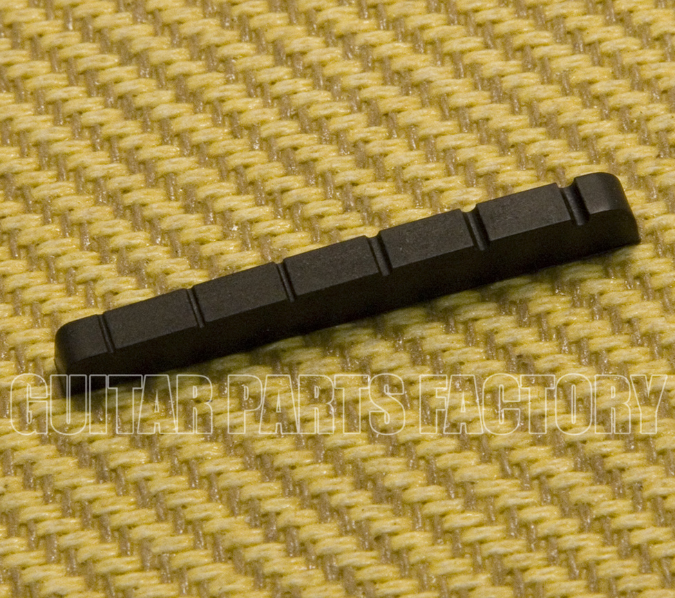 "1 Graphite 1-5//8/"" x 3//16/"" x 1//8/"" Slotted Nut for Fender® Guitar BN-0823-00G"