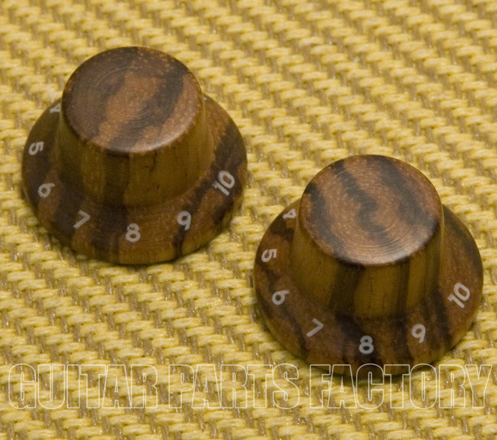 ROSEWOOD Numbering 1-10 ZEBRA WOODEN Guitar KNOBS for Stratocaster MAPLE