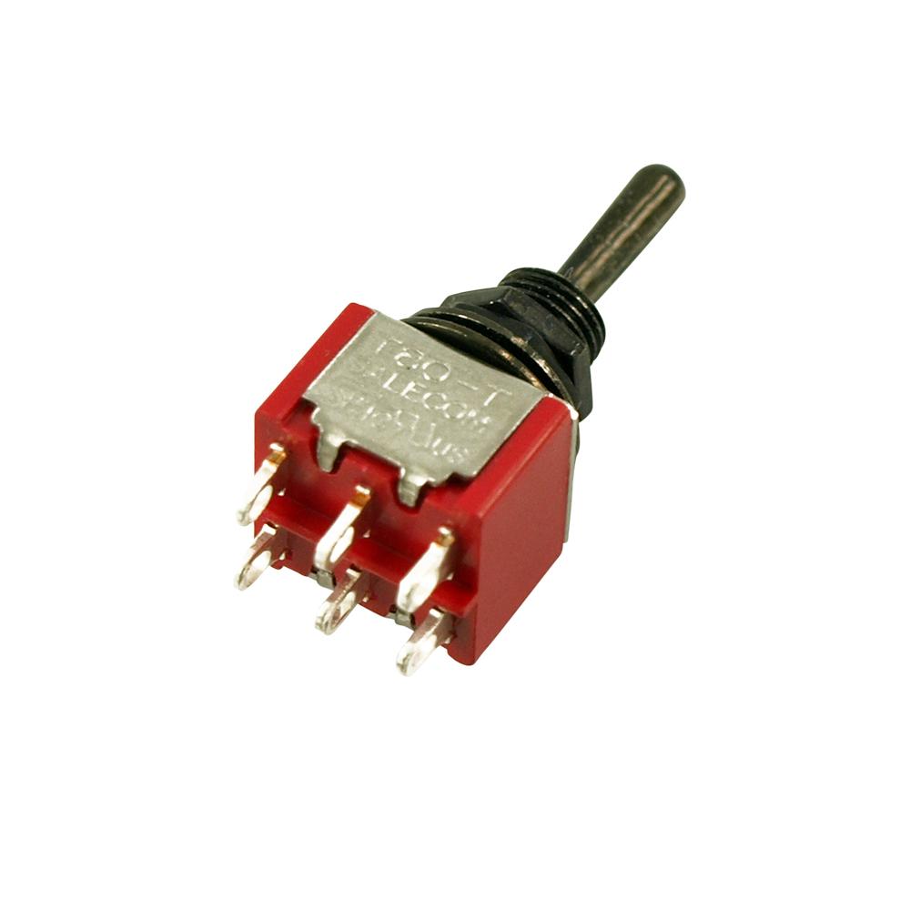 On-On-On DPDT Mini Switch NEW Flat Bat GOLD